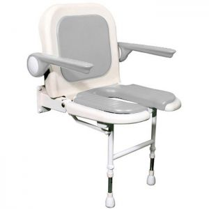 Commode Shower Seat with Back and Arms