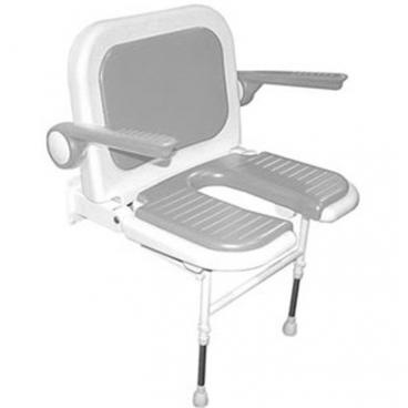 wide U Shaped Shower Seat with Back and Arms