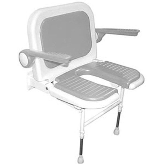 Wide Commode Shower Chair with Back and Arms