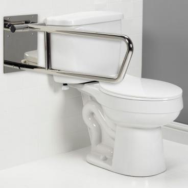 toilet grab bar swing up