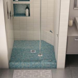 corner ledge for tiled shower