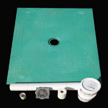 level entry shower pan for tile showers