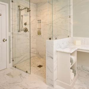 tile over shower base for zero threshold showers