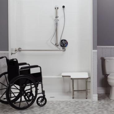 commercial ADA shower for seniors residence