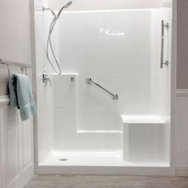easy step shower with molded seat