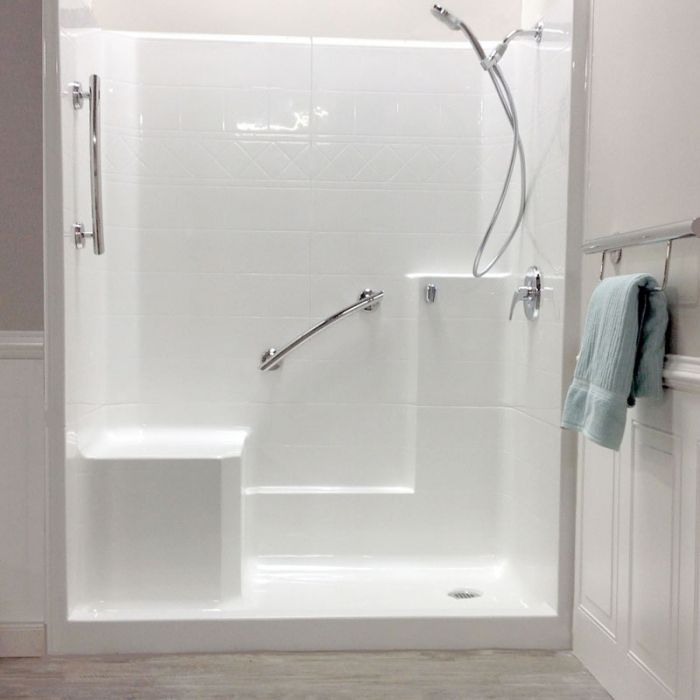 Freedom Easy Step Shower Left Seat 3 Piece 60 Quot X 33 Quot