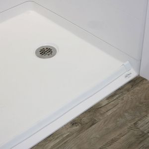 no curb shower pan