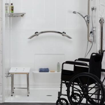 shower shelf grab bar