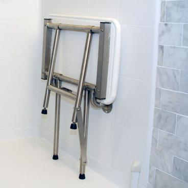 fold up shower bench