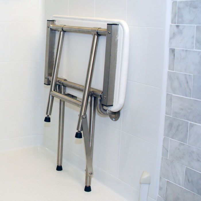 Freedom Folding Shower Seat With Legs, Padded White (22\