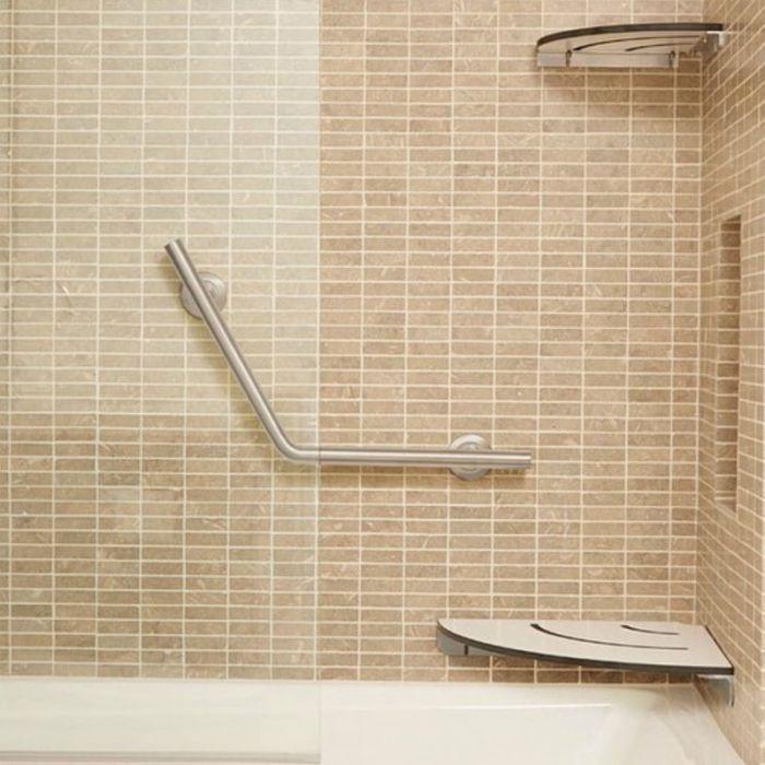 Freedom Corner Shower or Tub Seat with Matching Corner Shelf