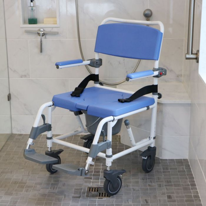 Rolling Commode Chair for Showers 20\