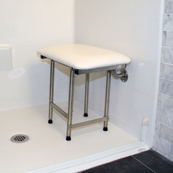 Wall Mounted Stool For Shower Fold Up Bench