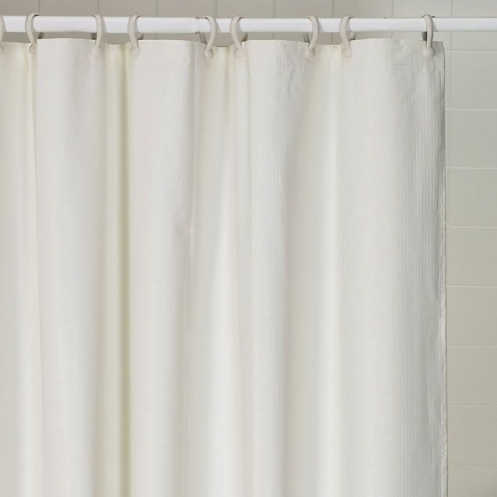 66 X 72 Heavy Duty Weighted Shower Curtain White