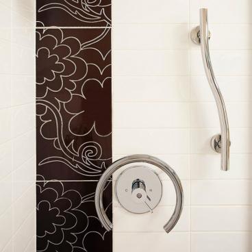 grab bar for shower valve