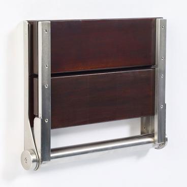 walnut seat wall mounted