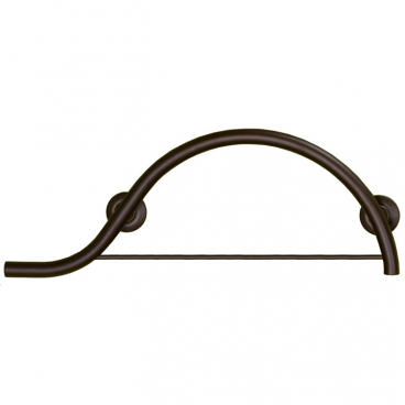 Freedom piano curved grab bar with towel bar bronze, left