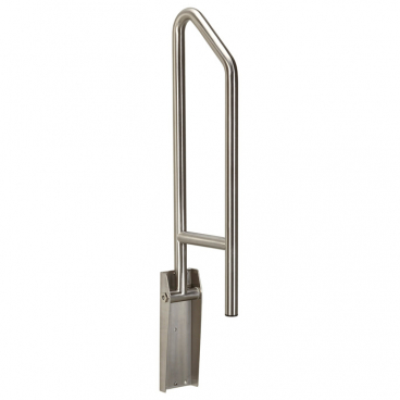 side of toilet grab bar, satin stainless, up position