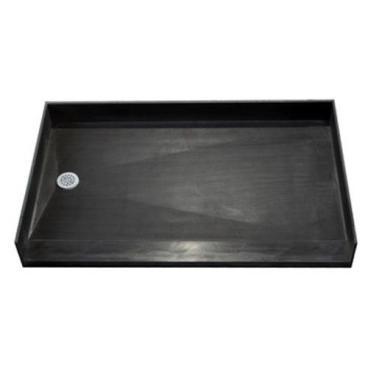 bathtub replacement tile over accessible shower pan, left drain