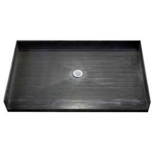 72 x 33 inch Freedom Tile Over Shower Pan Center drain