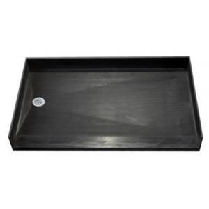 Tile ready accessible shower pan, left drain