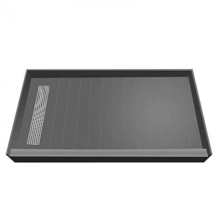 Tile Over Easy Step Shower Pan Left Trench Drain 60 X 32