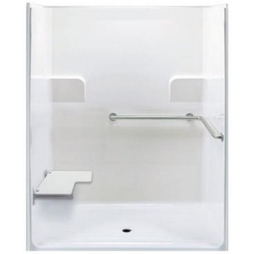 Freedom ADA Roll In Shower, Left Seat, 1 Piece, 62 x 39.5 inches