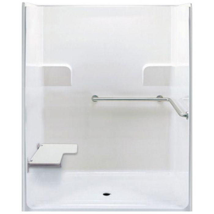 Ada Roll In Shower Left Seat 1 Piece 62 Quot X 39 189 Quot