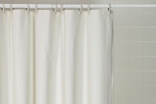 Shower Curtains Weighted WHITE CREAM Select Size