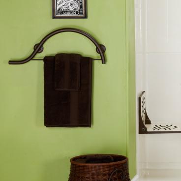 bronze towel grab bar